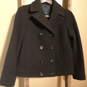Gap Navy Double Breasted Pea Coat Size M